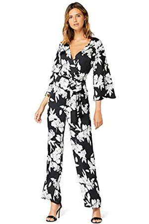 TRUTH & FABLE Amazon Brand - Women's Evening Short Sleeve Jumpsuit, 16