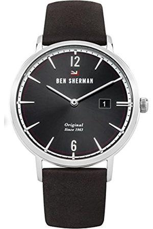 Ben Sherman Men's Analog Quartz Watch with Leather Strap WBS101BR