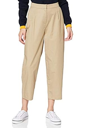 Tommy Hilfiger Women's Cotton POPLIN Tapered Pant Slim Jeans