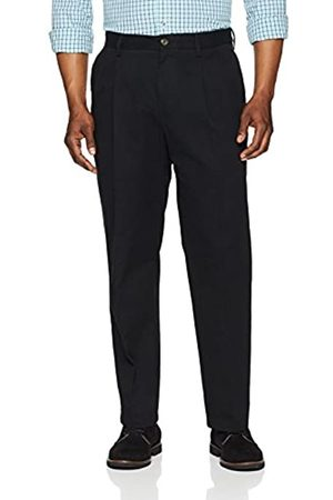 Amazon Essentials Classic-Fit Wrinkle-Resistant Pleated Chino Pant True )