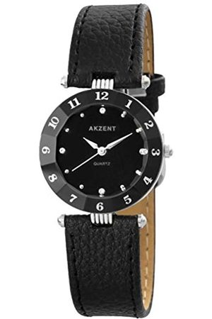 Akzent Womens Analogue Quartz Watch with Leather Strap SS7321000014