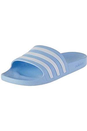 adidas Women's Adilette Aqua Slide Sandal, Glow /Footwear /Glow