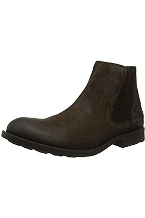 camel active Men's Check 13 Chelsea Boots, (Taupe/Mocca 6)