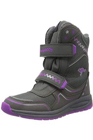 KangaROOS Unisex Kids' K-Plush RTX Snow Boots, (Steel / 2111)