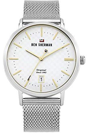 Ben Sherman Men's Analog Quartz Watch with Stainless-Steel Strap WBS103SM