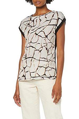 Dorothy Perkins Women's Woven Front Jersey Back Short Sleeve Crackle T-Shirt