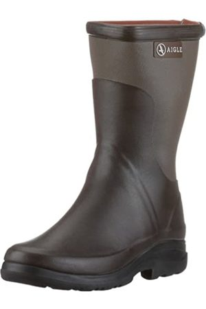 Aigle Unisex Adults' Rboot Bottillon Wellington Boots, (Brun/Taupe)