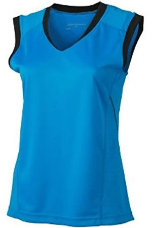 James & Nicholson Women's Shirt Ladies Running Tank Maternity T, -Atlantic/