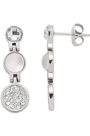 Leonardo Jewels JEWELS BY LEONARDO women earrings Alexia stainless steel/ colored glass imitation pearl transparent glitter 016512