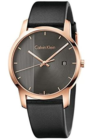 Calvin Klein Men's Analogue Quartz Watch with Leather Strap K2G2G6C3
