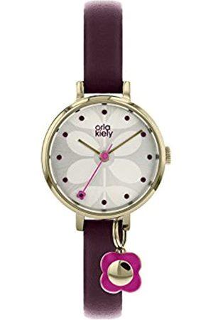 Orla Kiely Womens Analogue Classic Quartz Watch with Leather Strap OK2186