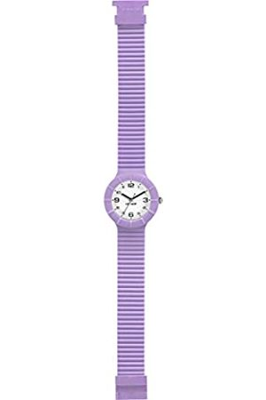 Hip Hop Watch Woman Numbers Collection dial e watchband in Silicone Violet