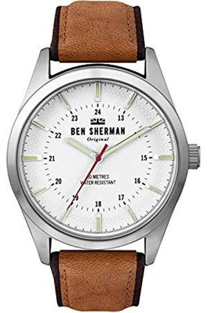 Ben Sherman Mens Analogue Classic Quartz Watch with Leather Strap WB027T