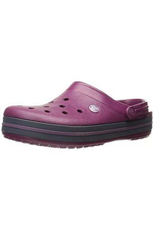Crocs Unisex-Adult's Crocband Clogs, Violet (Plum/Navy)