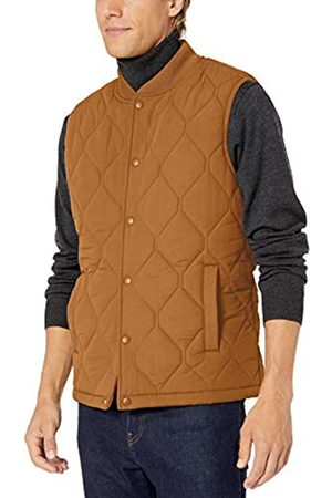Goodthreads Quilted Liner Vest Down Tan