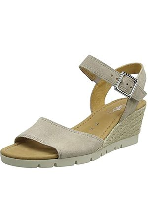Gabor Shoes Women's Comfort Sport Ankle Strap Sandals, (Silk (Jute) 44)