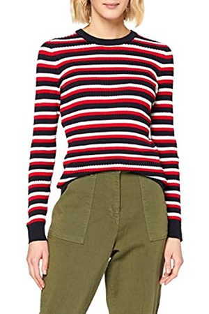 Tommy Hilfiger Women's TH Essential Cable C-NK SWTR Sweatshirt, (Global STP- SWT 0Fk)