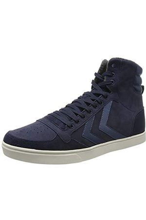 Hummel Unisex Adults' Slimmer Stadil Duo Oiled High Hi-Top Trainers, (Peacoat 7666)