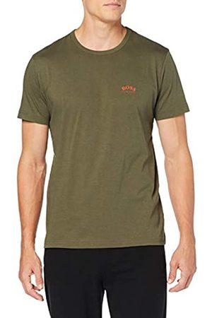 HUGO BOSS Men's Tee Curved Plain T-Shirt T-Shirt