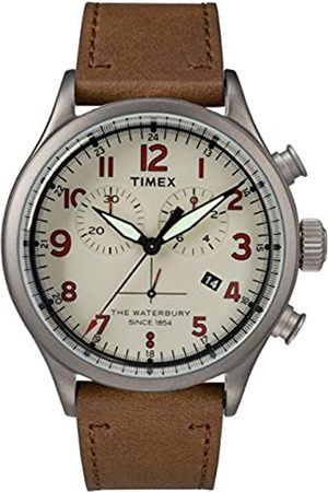 Timex Mens Chronograph Quartz Watch with Leather Strap TW2R38300