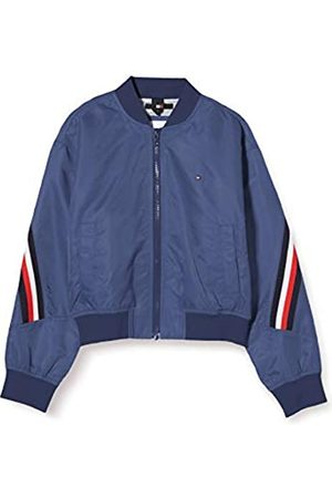 Tommy Hilfiger Girl's Global Stripe Taped Bomber Jacket