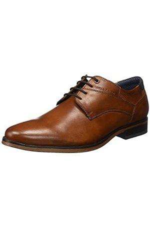 TOM TAILOR Men's 8089601 Oxfords, (Cognac 00205)