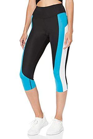 AURIQUE Amazon Brand - Women's Colour Block Capri Sports Leggings, 10
