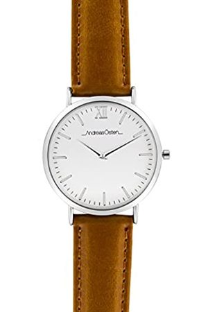 Andreas Osten Unisex-Adult Analogue Classic Quartz Watch with Leather Strap AO-06