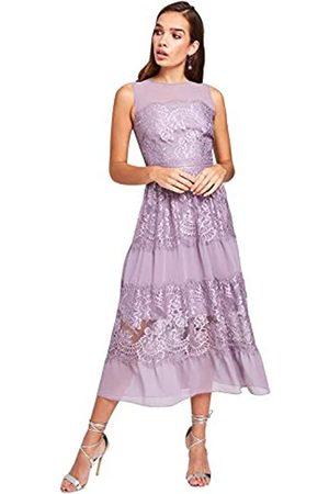 Little Mistress Women's Paige Lace Midi Dress Party