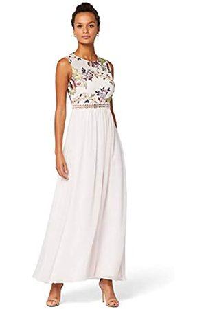 TRUTH & FABLE Amazon Brand - Women's Maxi Chiffon A-Line Dress, 10