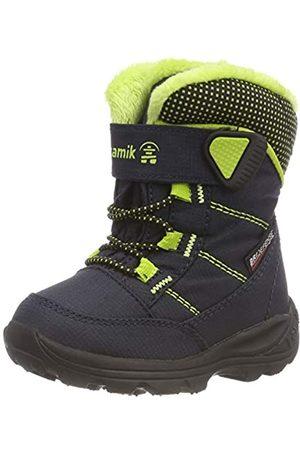 Kamik Unisex Kids' STANCE NK9070 Snow Boots, (Navy / Lime Nlm)