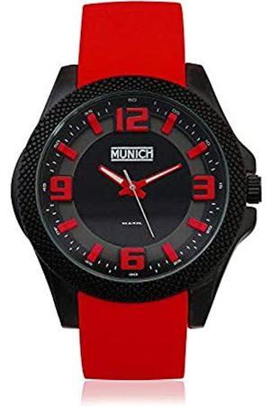 Munich Unisex Adult Analogue Quartz Watch with Rubber Strap MU+125.4A