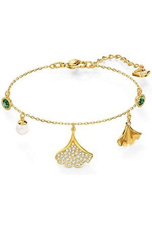 Swarovski Women's Green Gold-tone plated Stunning Ginko Bracelet 5518173
