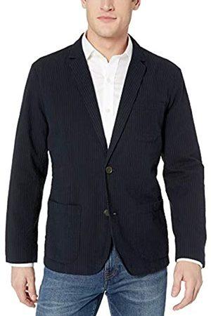 Goodthreads Men's Standard-Fit Seersucker Blazer, Navy/
