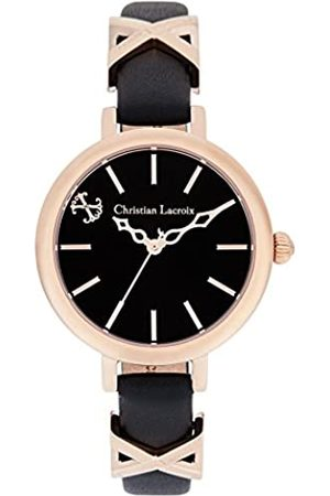 Christian Lacroix Womens Analogue Quartz Watch with Leather Strap CLWE24