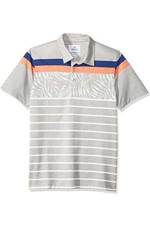 28 Palms Relaxed-Fit Hawaiian Performance Pique Polo Shirt Floral Stripe