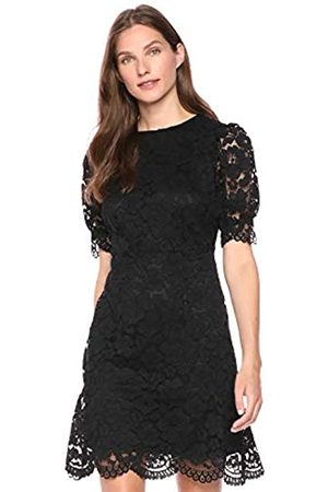 Lark & Ro Corded Lace Puff Sleeve Dress