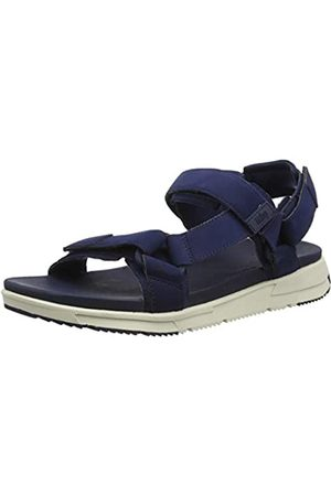 FitFlop Men's Sporty Back-Strap Sandals Flip Flops, (Midnight Navy 399)