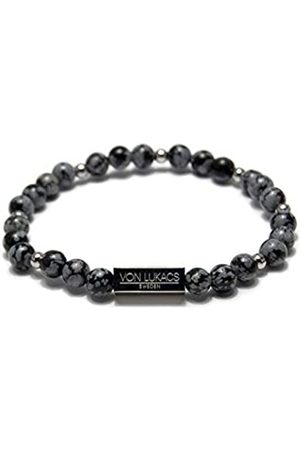 VON LUKACS Men Onyx Stretch Bracelet NYSO6L