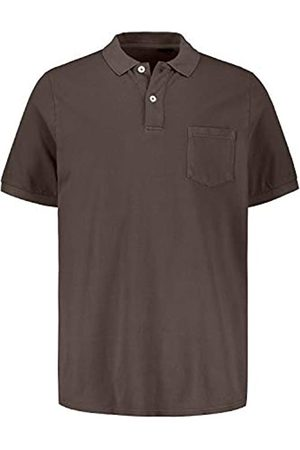 JP 1880 Men's Big & Tall Garment Dyed Pique Polo Shirt Taupe XX-Large 720073 32-XXL