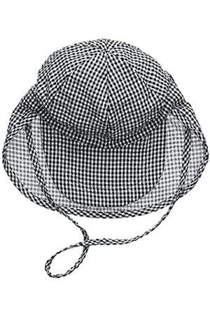 Melton Baby Boys' Sommerhut mit Schirm und Nackenschutz UV 30+, Kariert Cap