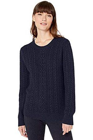Amazon Essentials Fisherman Cable Crewneck Sweater Navy