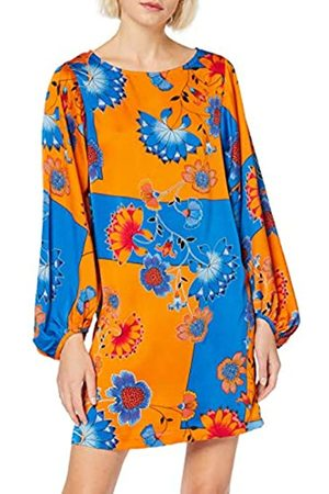 Liquorish Women's Long Sleeve Mini Dress in overscaled Floral