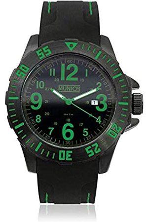 Munich Unisex Adult Analogue Quartz Watch with Rubber Strap MU+122.1D