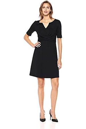 Lark & Ro Half Sleeve Front Twist Fit & Flare Dress