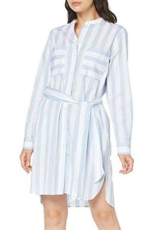Seidensticker Women's Kleid Langarm Modern Fit Streifen-100% Baumwolle-Brusttaschen Dress