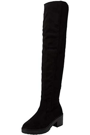Dorothy Perkins Women's Tristianna Cleated Heeled Long High Boots, ( 010)