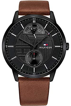 Tommy Hilfiger Mens Multi dial Quartz Watch with Leather Strap 1791604