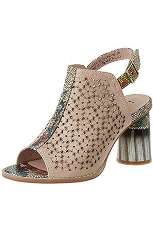 LAURA VITA Women's Gucstoo 22 Open Toe Sandals, (Rose Rose)