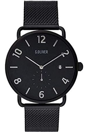 s.Oliver Mens Analogue Quartz Watch with Solid Stainless Steel Strap SO-3717-MQ